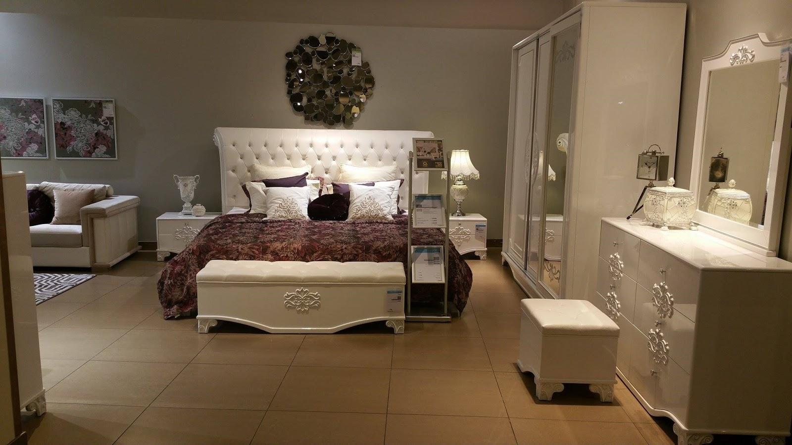 احدث غرفة نوم كاملة بيضاء من هوم سنتر روووعه2015_2016
