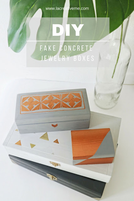 DIY Fake Concrete Jewelry Boxes