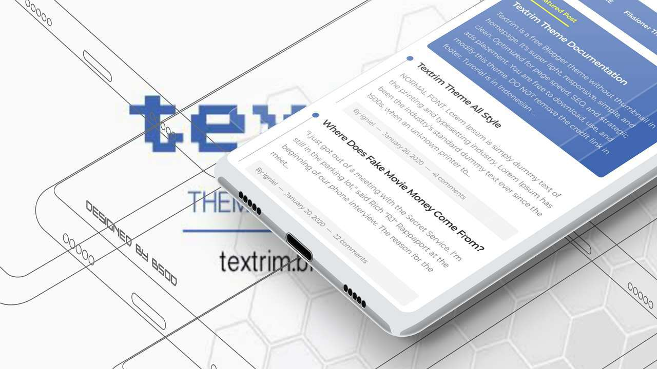 Tema Blogger Textrim