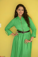 Geethanjali in Green Dress at Mixture Potlam Movie Pressmeet March 2017 007.JPG