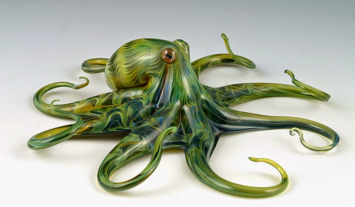 hand blown glass creatures sculptures scott bisson-2