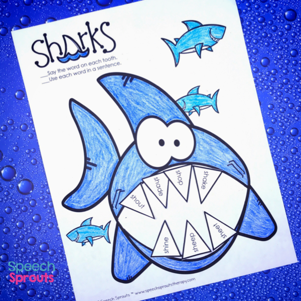 Speech Sprouts: 14 Great Ideas for Shark Week in Preschool ...