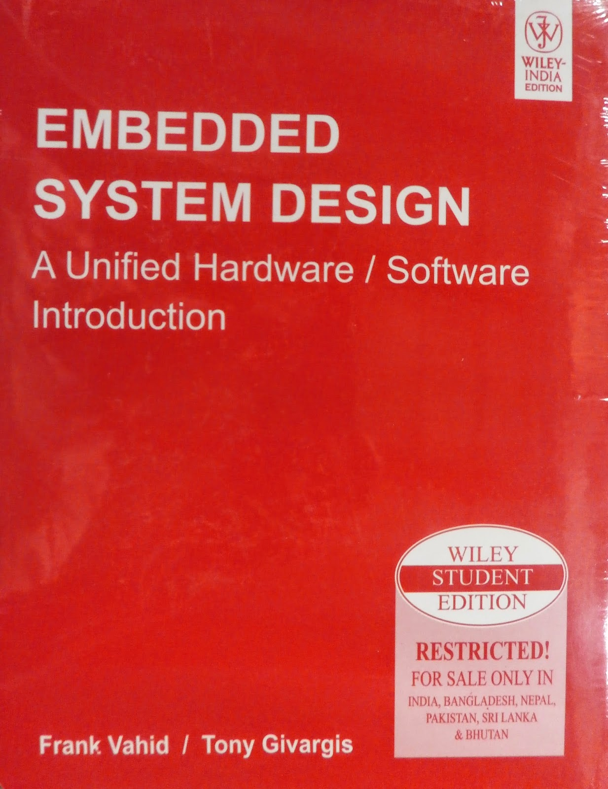 Embedded System Design Frank Vahid Book Pdf Free Download Online Hindi Book Reading Free