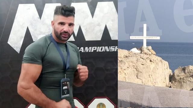 Εθελοντής πυροσβέστης και αθλητής τοποθέτησε ξανά το Σταυρό στη Μυτιλήνη