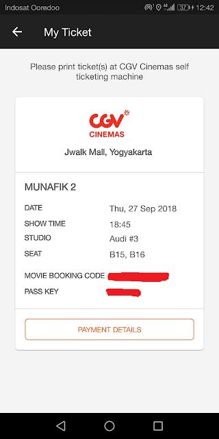 kode booking dan pass key nantinya digunakan untuk penukaran tiket