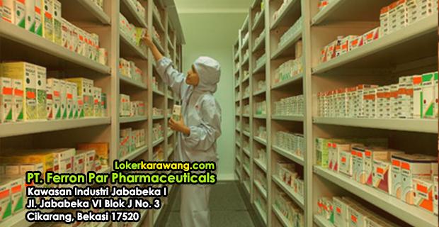 Lowongan Kerja PT. Ferron Par Pharmaceuticals Jababeka 2018