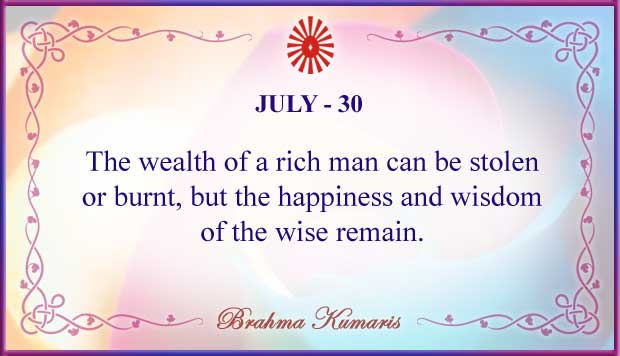 Thought For The Day July 30