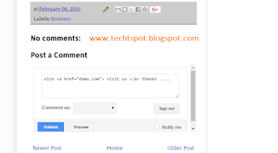 How To Post A Link In Blogger Comments 1