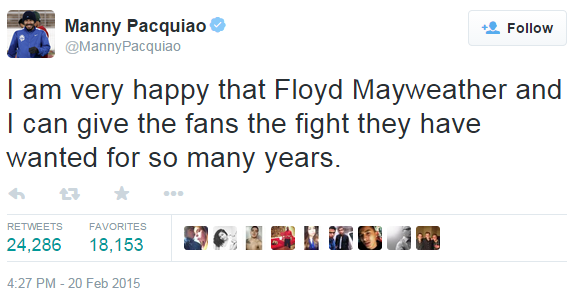 Pacquiao vs Mayweather Fight