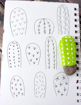 dibujar diseños de cactus