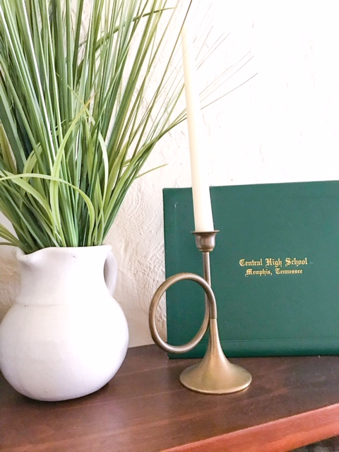 brass candle stick holder,  vintage decor, christmas decor