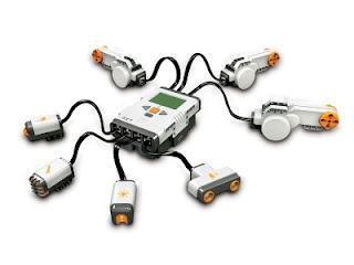 Lego mindstroms brick with sensors and motors