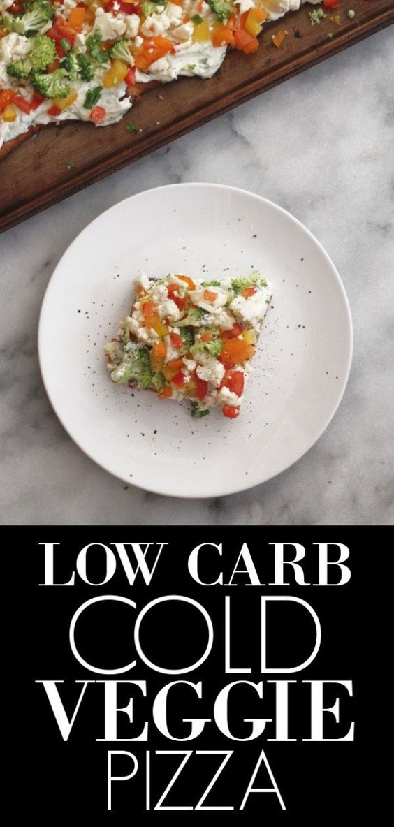 LOW CARB COLD VEGGIE PIZZA RECIPE
