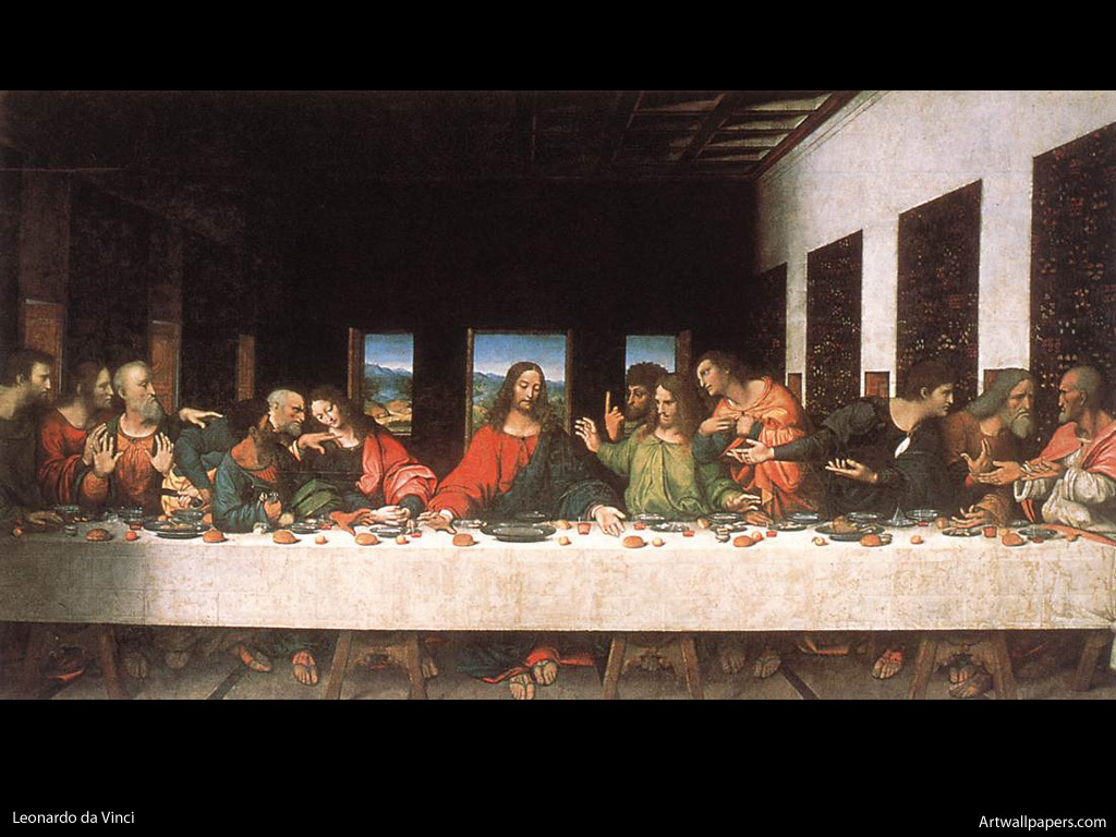 JCC'S FOOD AND DRINK BLOG: 10 works of art with food as ... Da Vinci Last Supper Restored