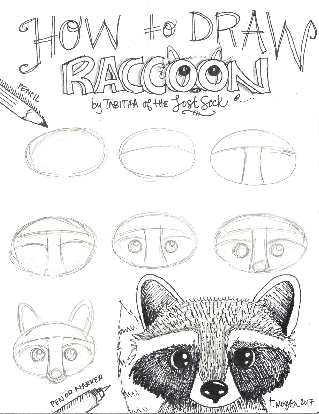 The Lost Sock : Fall Raccoon