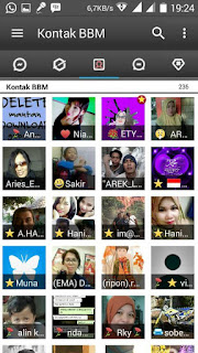 BBM Black Cute v3.2.2.8 APK (BBM Ireng Manis Simple)