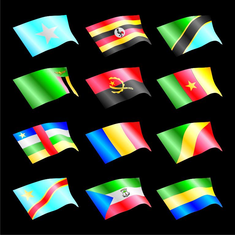 Set of Africa flags vector | Robin's Vector Gallery