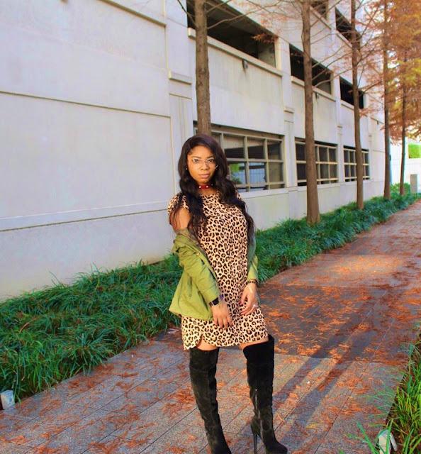 styleguruzak_leopard_print_and_olive_green_hoodie_jacket_outfit