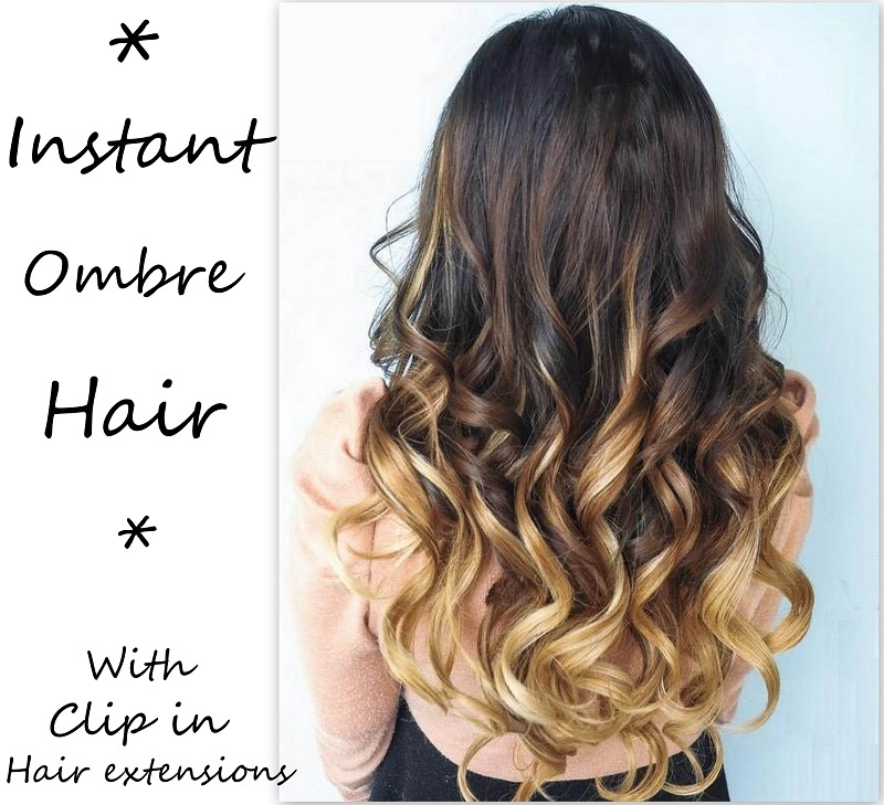 instant ombre hair with clip in hair extensions