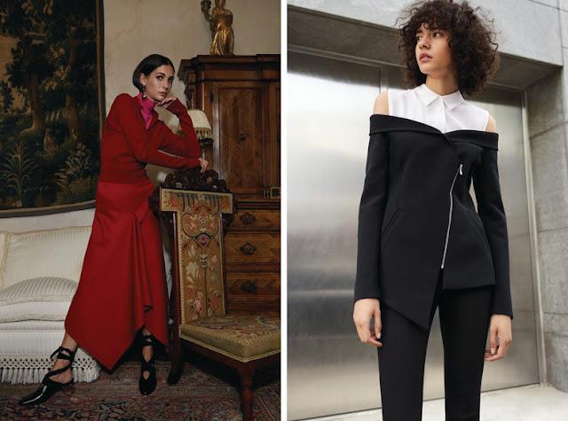 Тренды осень зима 2017 2018 деконструированная юбка и жакет