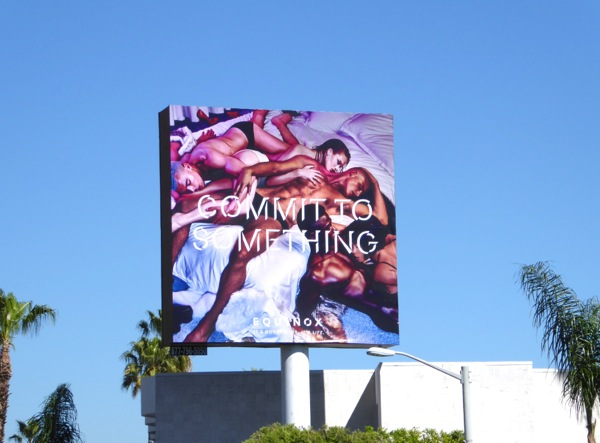 Equinox gym Commit to something orgy billboard