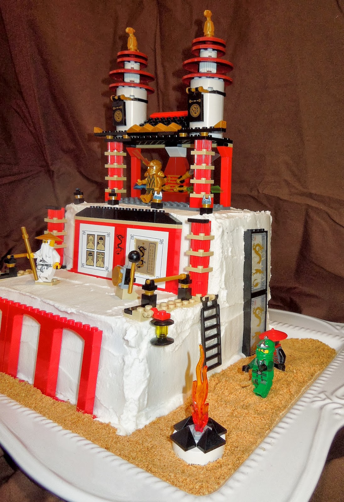 Lego Ninjago 174 Birthday Cake Gluten And Top 8 Allergy