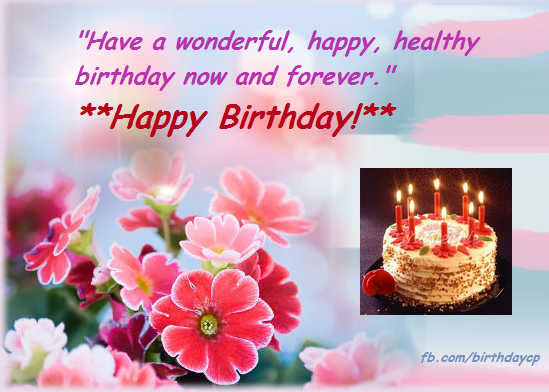 Birthday Wishes Images With Cake And Flowers : flowers, cake, birthday celebration card - cf379 ...