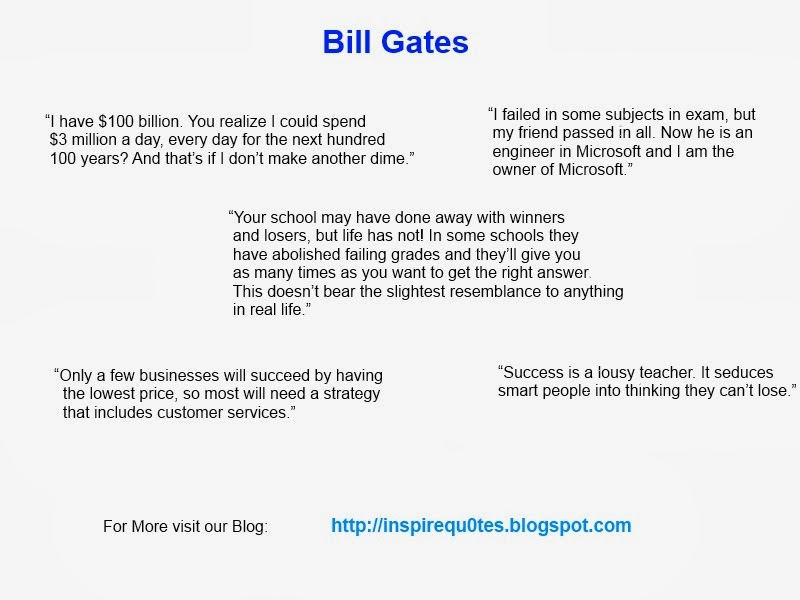 Bill Gates Inspirational Quotes Inspirational Quotes