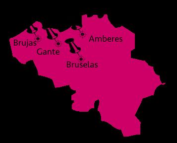 Mapa del recorrido por Belgica