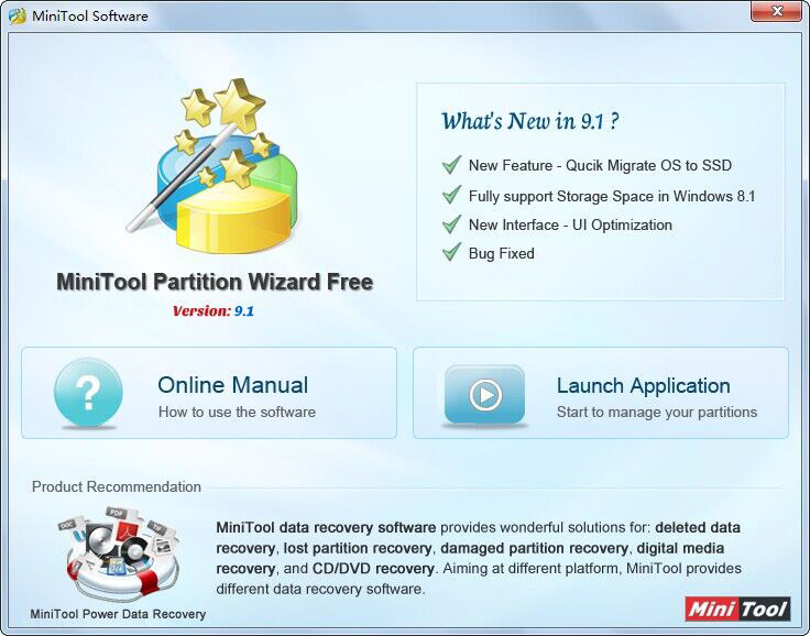 تحميل برنامج mini tools partition wizard