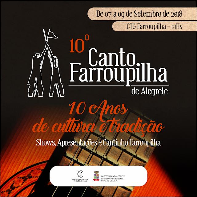 inicia hoje o 10º Canto Farroupilha de Alegrete