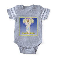 Healthy Baby Angel football bodysuit