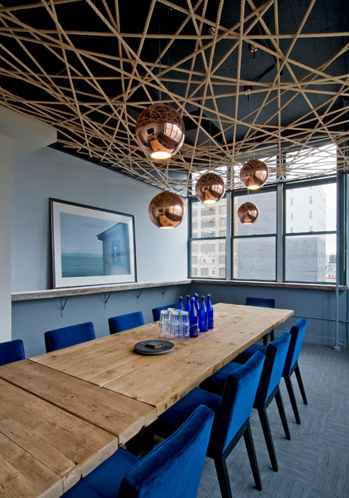 Decorative rope ceiling