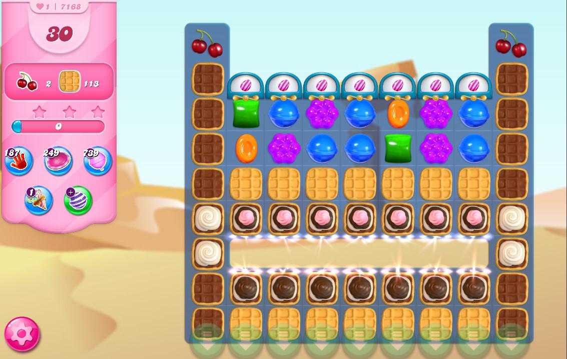 Candy Crush Saga level 7168