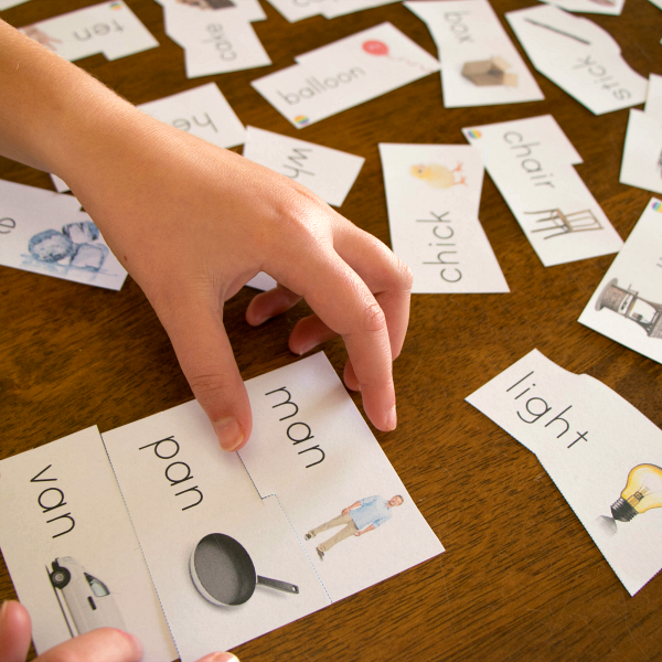Rhyming Word 3 Part Puzzle Cards | you clever monkey