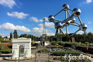 Paris miniature, parc de mini-europe et l'Atomium, Bruxelles