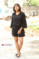 Actress Hebah Patel Stills in Black Mini Dress at Angel Movie Teaser Launch  0006.JPG