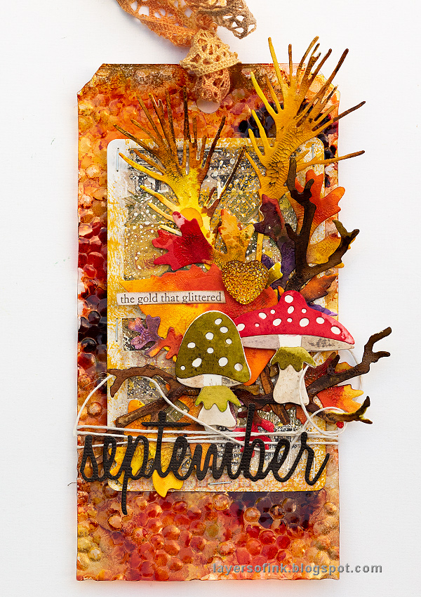 Layers of ink - Embossed Acetate Autumn Tag Tutorial by Anna-Karin Evaldsson