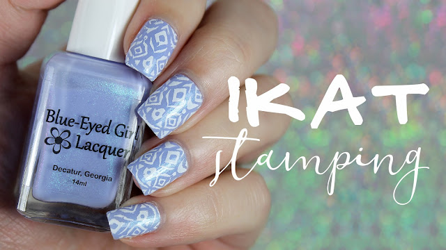 Blue-Eyed Girl Lacquer | Ikat Stamping