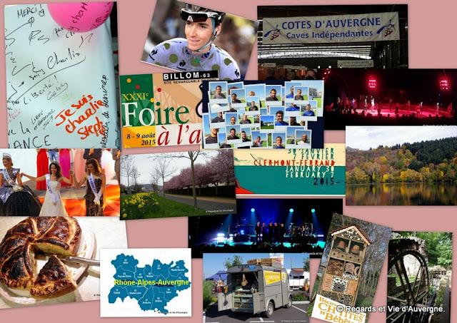 Rétrospective 2015 du blog Regards et Vie d'Auvergne