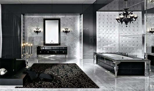 luxurious black and white bathroom ideas, designs, furniture