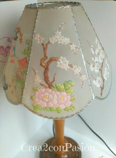 Lámpara-pergamano-repujado-pintado-con-pinturas-acuarelables-motivos-orientales-Crea2-con-Pasión-motivo-2