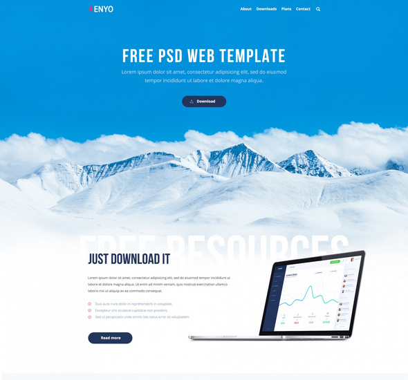 Enyo – PSD Web Template