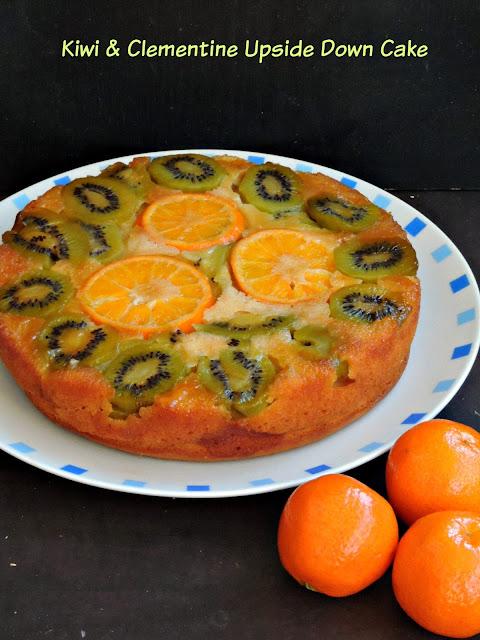 Clementine Kiwi Upside down Cake