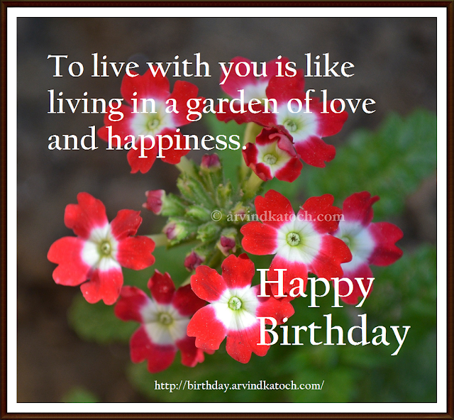 Birthday Card, Happy Birthday, Happiness, love, garden, live, Card, Picture Card