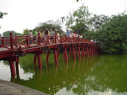 Fotos puente rojo de hanoi