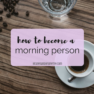 Why you should be a morning person and how to become a morning person. Benefits of becoming a morning person. 3 reasons why it's better to be an early bird than a night owl. How to be more productive in the morning. How to have more productive mornings. Why you stress less when you wake up earlier. Waking up earlier tips. How to go from a night owl to an early bird. Being a morning person in college or school. How to be a morning person as a student. Strategies to becoming a morning person. Steps to becoming a morning person. law school blog. law student blogger | brazenandbrunette.com