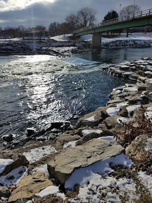 The Cedar River that runs through Charles City, Iowa #MWTravel #ThisIsIowa