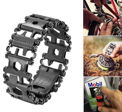 wearable tools for EDC, camping, hiking, survival, outdoors - Leatherman Tread Bracelet