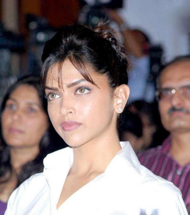 Deepika Padukone Photos In White Shirt